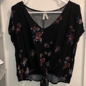 Mudd Black Blouse